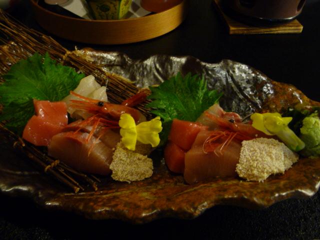 鳥越の宿三楽園の夕食