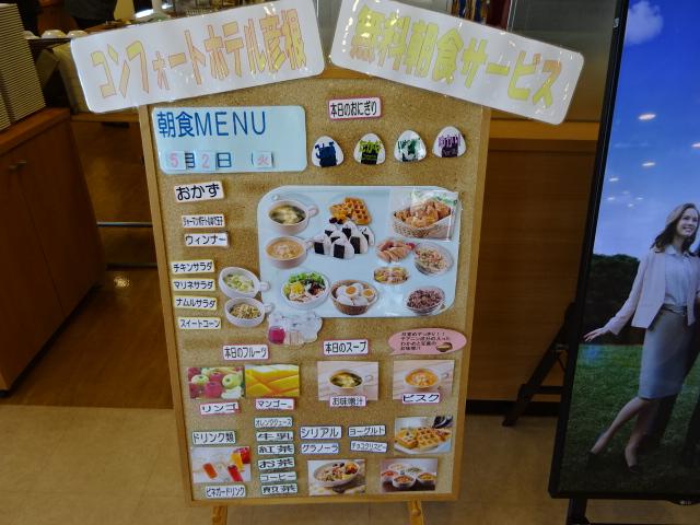 コンフォートホテル彦根の朝食